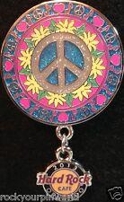 Hard Rock Cafe ORLANDO 2013 SPRING PEACE PIN w/HRC Logo - Peace Love & Rock NEW!
