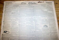 1836 Washington Globe DC newspaper w front pg AD -Wanted to buy:200 NEGRO SLAVES