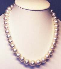 15.3mm! SOUTH SEA PEARLS NECKLACE 100% UNTREATED COLOUR +18ct GOLD CLASP +CERT