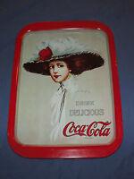 VINTAGE  1971 COKE DRINK DELICIOUS COCA COLA HAMILTON KING 1909 GIRL METAL TRAY