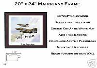 """Add a 20""""x24"""" Mahogany Frame for your Print"""