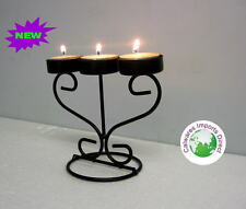 IRON CANDELABRAS CANDLE HOLDERS  2 Pieces!!