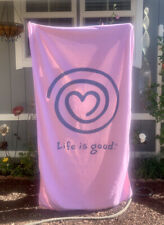 LIFE IS GOOD Beach Pool Towel LARGE BATH SHEET VINTAGE