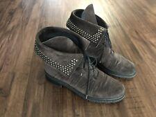 stuart weitzman 7.5 Boots Ankle Boties Suede Gray Woman