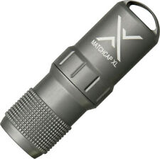 """Exotac MATCHCAP XL Survival Match Case with Strikers. 3.60"""" overall length. 1.20"""