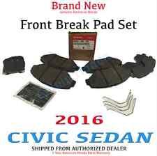 2016 HONDA CIVIC 4-DOOR SEDAN OEM FRONT BREAK PAD SET  45022-TBA-A00