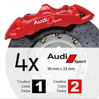 4 Pegatinas sticker aufkleber decal brake caliper Audi  pinzas freno 9 cm