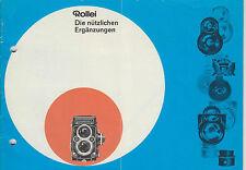 Prospekt Anleitung  Notice d ´emploi Handbook Rollei  Rolleiflex   F29