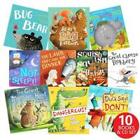 Animal Story Child Kids Ten Stories Little Tiger Collection 10 Books + CD's Set