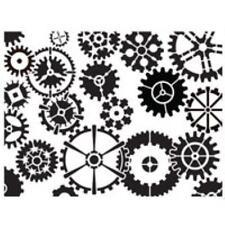 Dreamweaver Embossing & Stencilling Template - Clockwork Gears