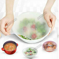 4PCS safety Reusable Silicone Food Wrap Film Seal Cover Stretch Kitchen Tools au