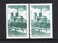 """FRANCE YVERT 776  SCOTT B217 """" CATHEDRAL NOTRE DAME PARIS VARIETY OF COLOR """" MNH"""