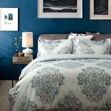 Bedsure 3 Piece Duvet Cover Sets King Queen Grey Soft Floral Duvet Cover Set