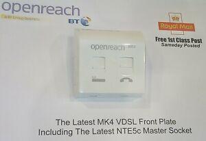 2019 BT Master Socket NTE5c MK2 & VDSL/ADSL Faceplate MK4 **1st CLASS POST**