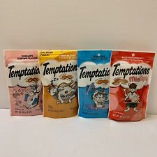 TEMPTATIONS Cat Treats All Cats Love:) (Lot Of 4) BRAND NEW FACTORY SEALED!(DS)!