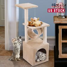 """New listing Cat Tree Scratching Post Pole Tower 36"""" Condo Kitty Activity Center 3-Level"""