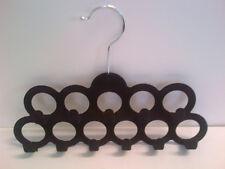 Scarf Belt Velvet Hanger 11 Hole Hooks Accessories Slim Line 12 PK Black Storage