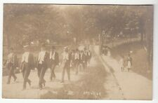 [53764] 1907 REAL PHOTO POSTCARD PARADE OF MEN MARCHING IN BREWSTER, NEW YORK