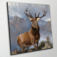 The Monarch of the Glen - Edwin Landseer Deer Canvas Print Wall Art Choose Size
