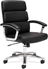 Hon Traction Executive Task Chair - Mid Back Leather Computer Chair For Office D