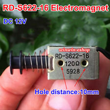 DC 12V Suction Micro Electromagnet Spring Rod Solenoid Magnet Automatic Type DIY