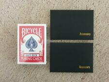 Bicycle Rider Back Red Full Gaff Playing Cards Rare Limited & Accessory & Video