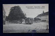 AK Hermannstadt Nagyszeben Sibiiu Hermannsplatz Siebenbürgen 1916 Strassenbahn