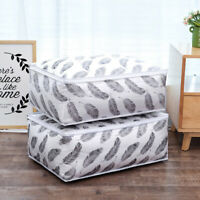 FASHION FOLDING WATERPROOF PEVA QUILT CLOTHES BLANKET LARGE CAPACITY STORAGE BAG