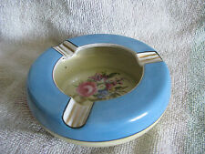 Vtg 30s Tobacciana Noritake Ashtray Floral Peony M Laurel Wreath Backmark Deco