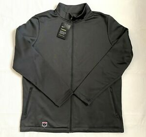 NWT Nike Men's Anthracite Golf Therma Dri-Fit Full-Zip Fleece Size L