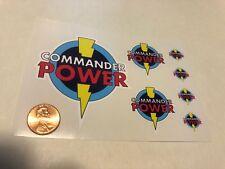 Custom Superhero Decals Commander Power Die Cut. Free Shipping!