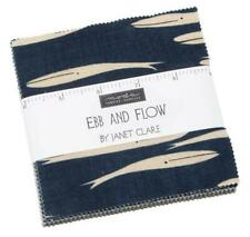 "Ebb and Flow whale anchor  Moda 5"" charm pack squares 100% cotton fabric quilt"