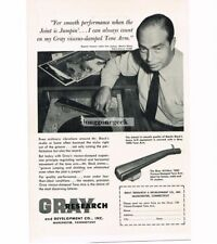 1956 Gray Research 108c Hi-Fi Tone Arm Vtg Print Ad