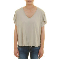 One Teaspoon Womens Bamboo 19410 Top Relaxed Ochre Grey Size S