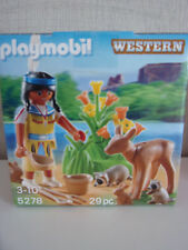 Playmobil ?uf indienne avec Animaux Figurines
