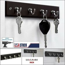 Wall Mount Key Rack Hanger Holder 4 Hook Chain Storage Keys Organizer Home Decor