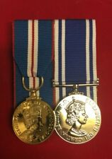 Queens Golden Jubilee And Police Long Service Medal Mounted Full Size Set Copy