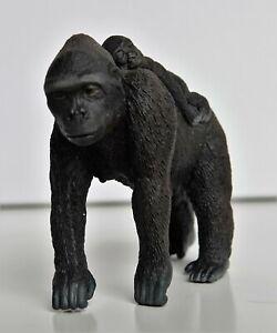 Schleich 14662 Affe Gorilla Weibchen mit Baby Wild Life TOP Zustand wie neu