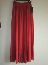 ZARA LONG FLOWING SKIRT DARK RUSSET MAXI SKIRT SIZE M AW 15 NWT SOLD OUT