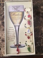 Boston Warehouse Party Goers Wine Markers Set of 6