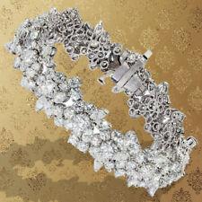 Lovely Estate Diamond Bracelet 22.00 ct round marquise diamond platinum