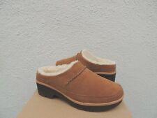5d06fe5d8e UGG Chestnut Lynwood Waterproof Suede Wool Lined Clogs US 9/ EUR 40