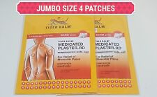 Warm Tiger Balm Back Pain Patch Plaster Medicated Relief 4 Patches JUMBO 10X14