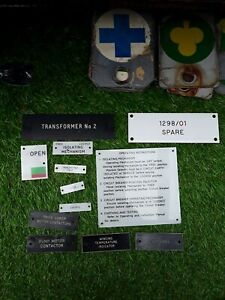 Plastic Collectable Signs Used In Electricity Industry 6