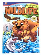 Wildlife Jumbo Coloring & Activity Book for Kids 4 Free Song Downloads
