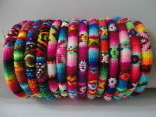 Fabric Handmade Ethnic Art Peru 3 Peruvian Bracelets Peruvian Manta Wristbands