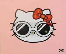 """Designer Kitty"" Hello Kitty Original Acrylic Painting 60cm x 50cm x 1.5cm"
