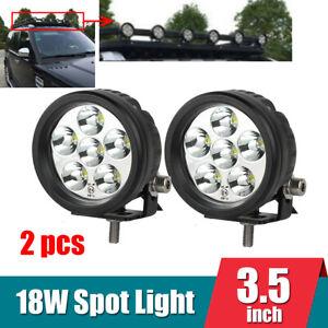 "2x3.5""inch 18W 6000K Spot LED Work Light Driving Fog Lamp for Car 4x4 SUV Truck"