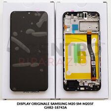DISPLAY LCD TOUCH SCREEN ORIGINALE SAMSUNG GALAXY M20 SM-M205F NERO BLACK