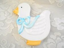 Collectible White Duck/Duckling Ceramic Teabag Caddy / Tea Bag Holder